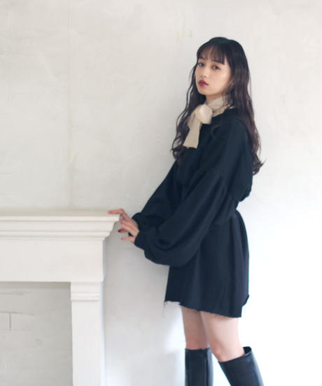 big sleeve sweat one piece(A19-04066K)