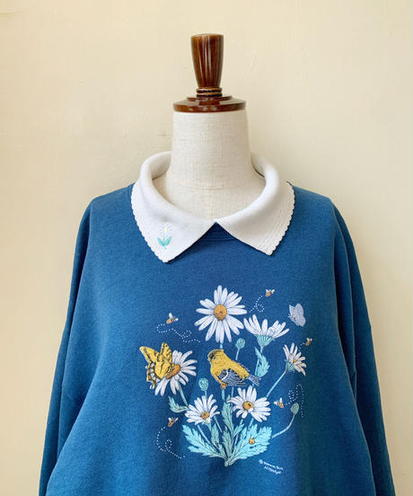 used flower collar sweat