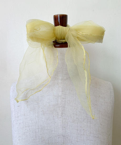 see-through scarf(yellow)