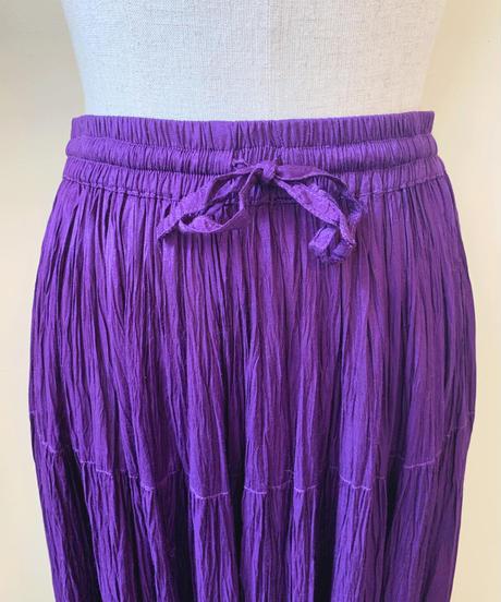 used rayon color skirt