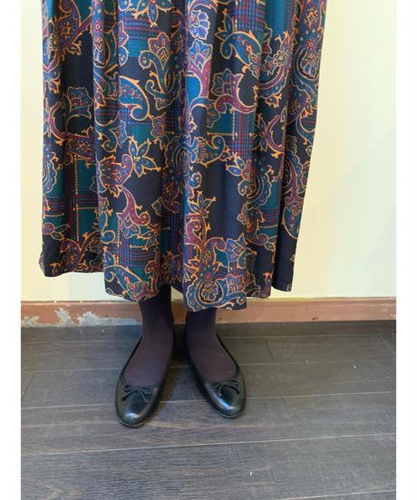 used rayon paisley skirt