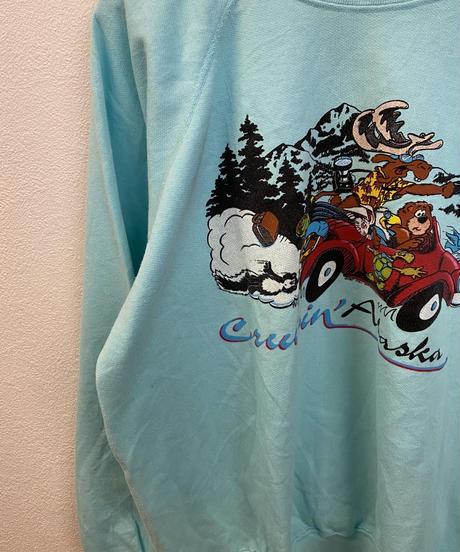 雪山をドライブする動物たちののスウェット2589