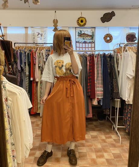 フレッシュなオレンジジュースのスカート3722