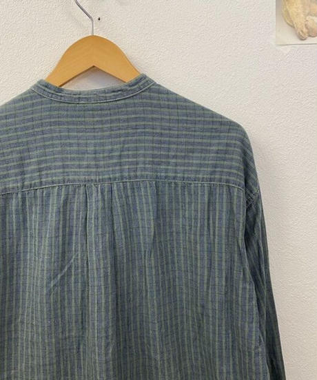 爽やかな日のバンドカラーシャツ3164
