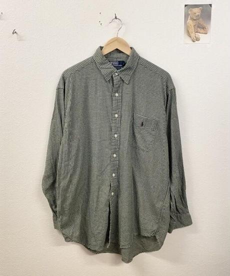 抹茶ラテのpoloのチェックシャツ3196