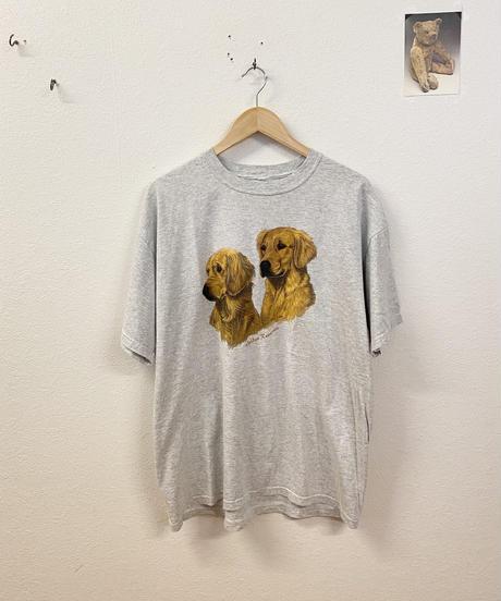 仲のいいゴールデンレトリーバーのTシャツ3731