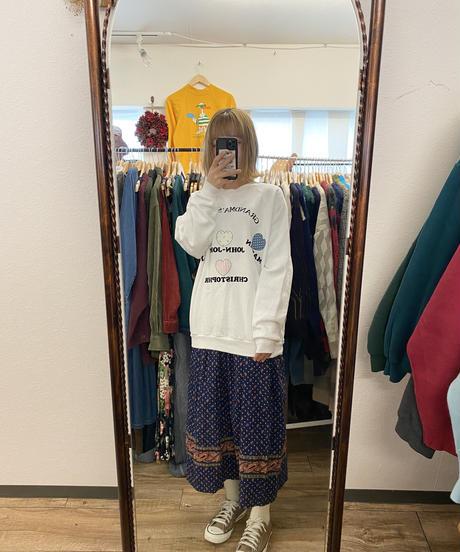 水族館が好きなペイズリー柄スカート2689