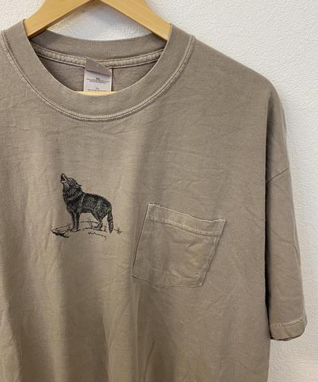 遠吠えする犬のTシャツ3450