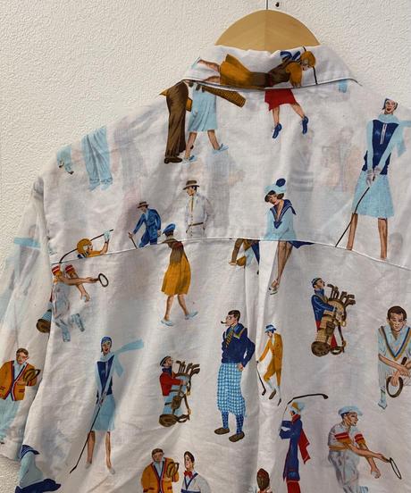 ヨーロッパの休日シャツ3170