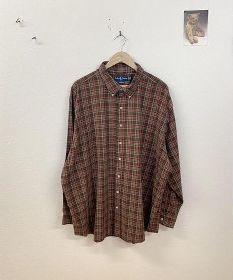 栗拾いを楽しむチェックシャツ4063