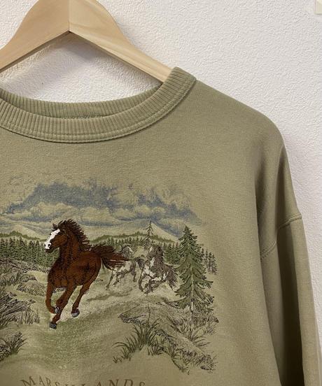 足が速い馬のスウェット2993