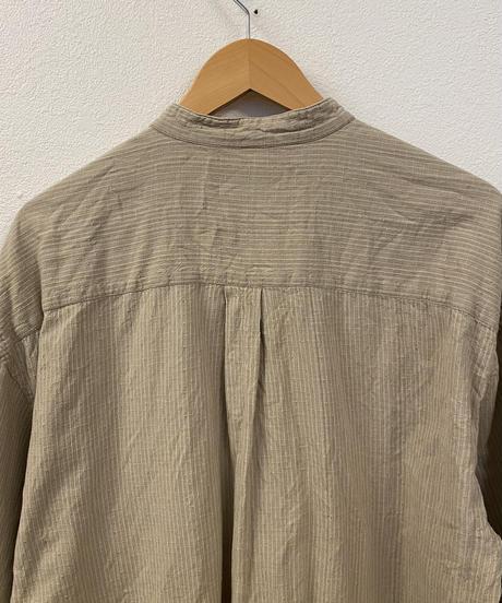 木の家具が好きなバンドカラーシャツ3197