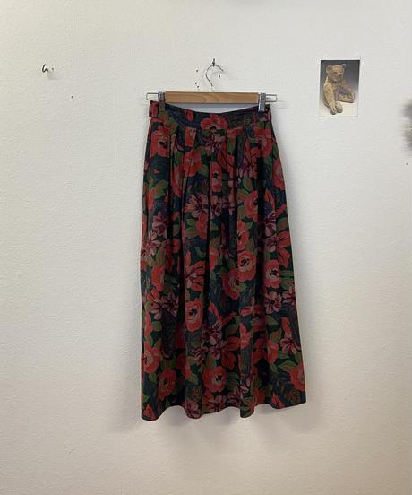 我慢強いお花のスカート4233