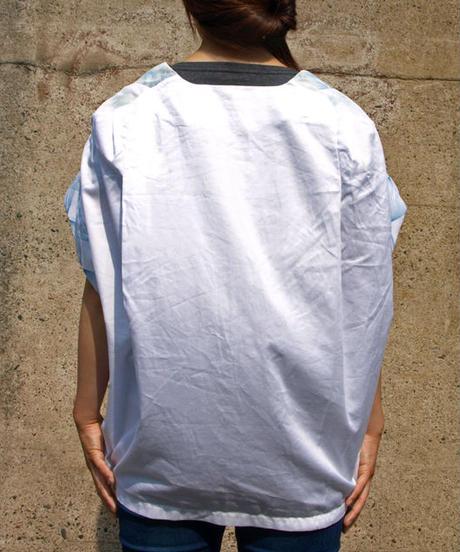 タイダイとメッシュのシャツ