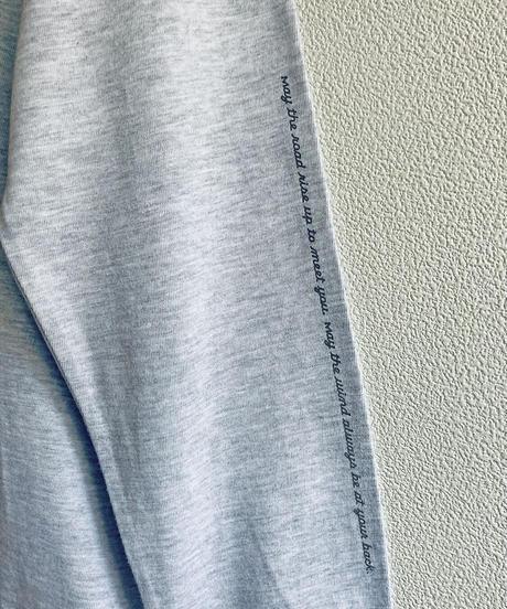 白鳥ロンT ライトグレー  Unisex S/M/L