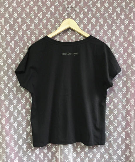 純喫茶 アパレル ドルマンスリーブTシャツ ブラック 黒