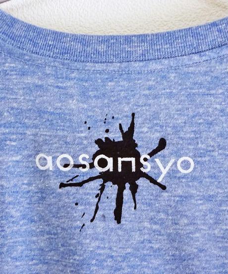 Tシャツ イカとタコのDJユニット Blue 青