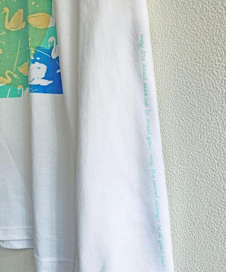白鳥ロンT ホワイト  Unisex S/M/L