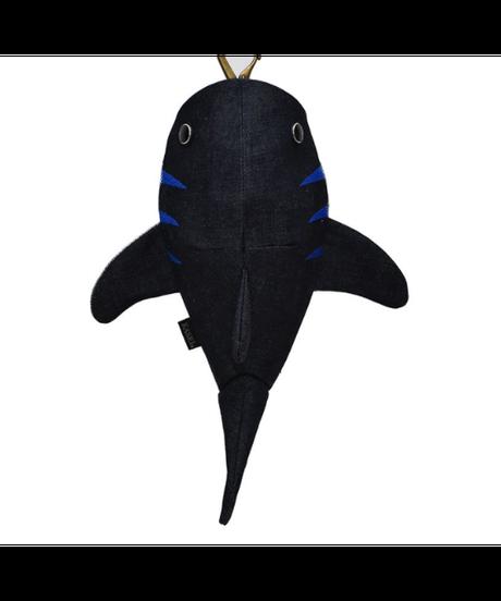 KASEI/カセイ 12ヶ月連続企画 10月のサメさん 生デニム6+ ステッチカラー 青(受注生産)