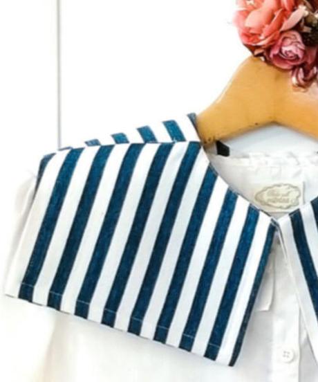 Perla nell' ostrica/ぺルラネルオストリカ A-2020-33-BLst つけ襟(BLUE/ストライプ)