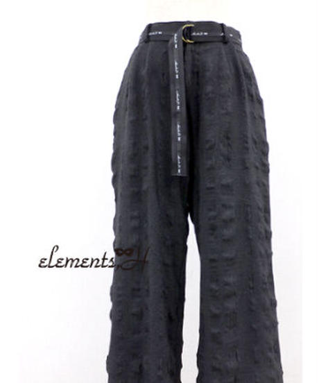 elements,H/エレメンツ,アッシュ 092601P ロゴベルト付きタックパンツ