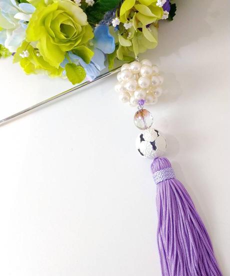 花美鈴/はなみりん 0065 簪(紫×白)