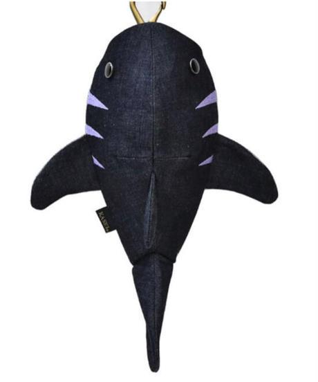 KASEI/カセイ 12ヶ月連続企画 5月のサメさん 生デニム6+ ステッチカラー藤色(受注生産)