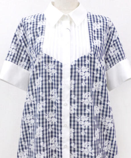 elements,H/エレメンツ,アッシュ 062405G フラワーチェックシャツ【特別価格】