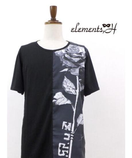 elements,H/エレメンツ,アッシュ 591701P  Sculpture Rose カットソー