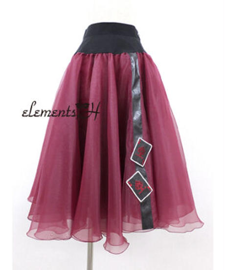 elements,H/エレメンツ,アッシュ 091501P トランプモチーフオーガンジースカート
