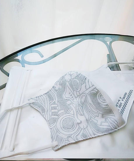 D/3/ディースリー  KUMA マスク 『shichigoro-shingo×▽-3』(white)