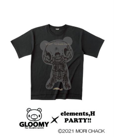 elementl,H/エレメンツ,アッシュ ゆるTシャツ(スカルVer.)【グル~ミ~×elements,H PARTY!!】