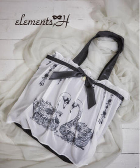elements'H 091908G  SWAN柄トートバッグ