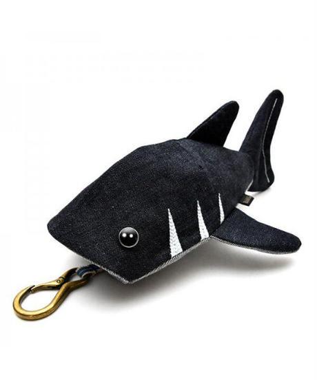 KASEI/カセイ 12ヶ月連続企画 2月のサメさん 生デニム6+ ステッチカラーオフ白(受注生産)