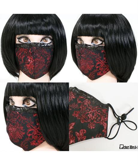 QutieFrash/キューティーフラッシュ 7829-AC ファッションマスク-メタルジャガード-