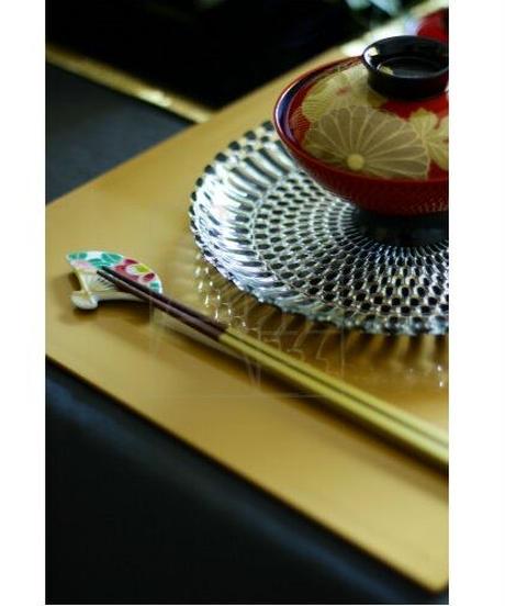 清水焼/紅白椿お箸置き2個セット