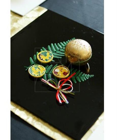 清水焼/黄ことぶきお箸置き5個セット
