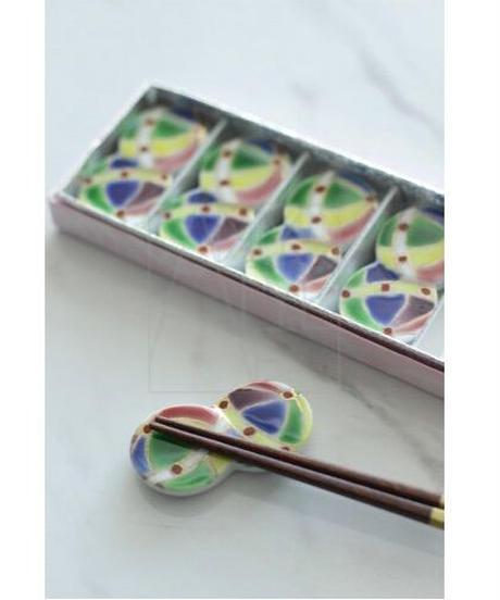 清水焼/手まりお箸置き5個セット