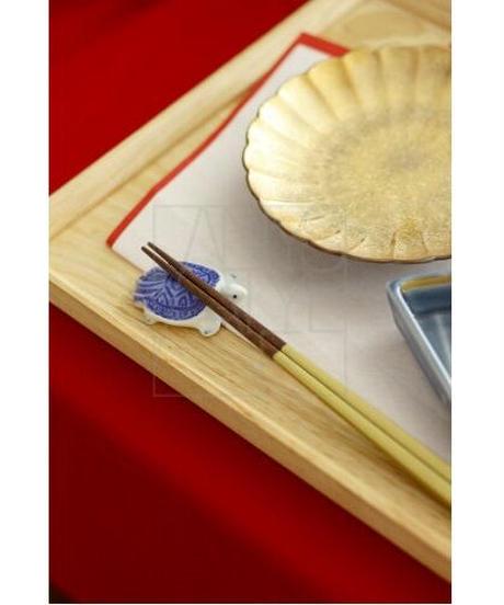 有田焼鶴亀箸置きペアセット
