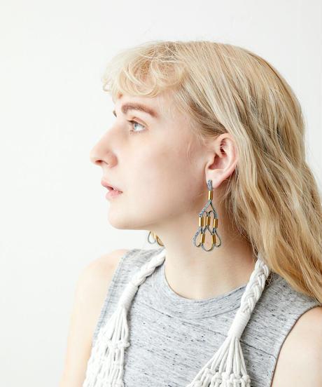 *アートなレザー*leather earrings