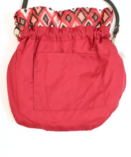 *WeLovePOMPOMS*pompoms fringe bag Red