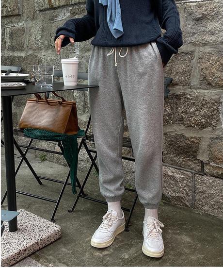 smiley jogger pants/2color
