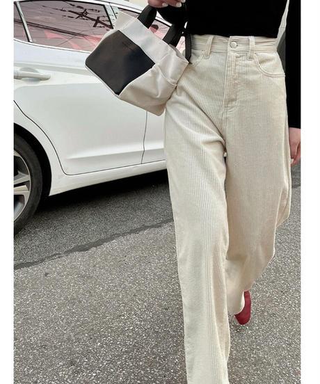 corduroy straight pants/4color