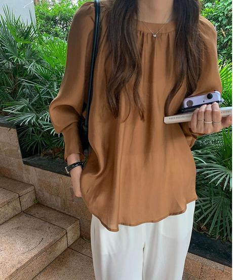 tencel satin blouse