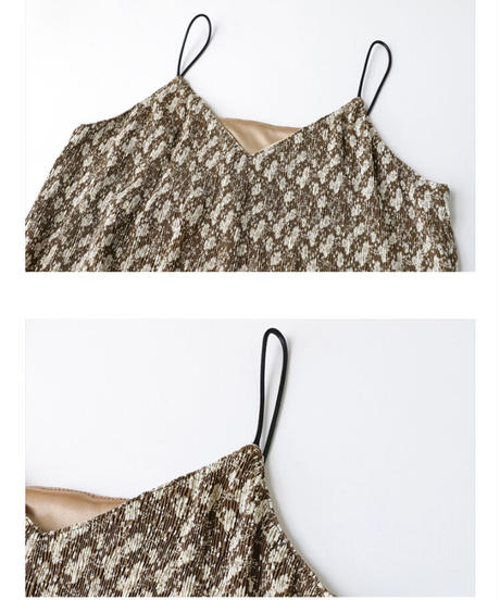 flower camisole dress/2color
