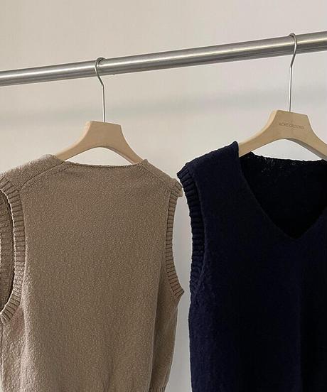 V neck basic cotton vest/2color