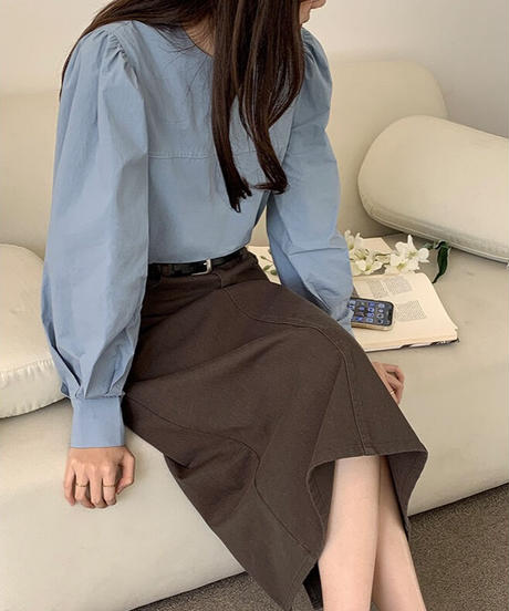 volume sleeve blouse/3color