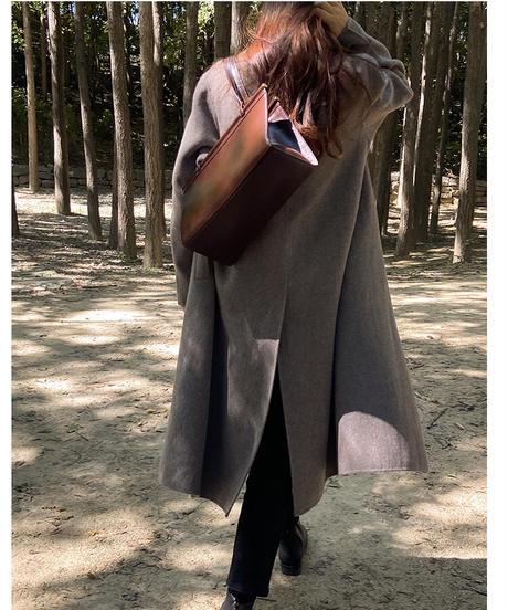 (予約)basic long coat【wool 100%】