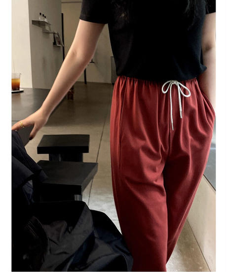 straight relax pants/4color