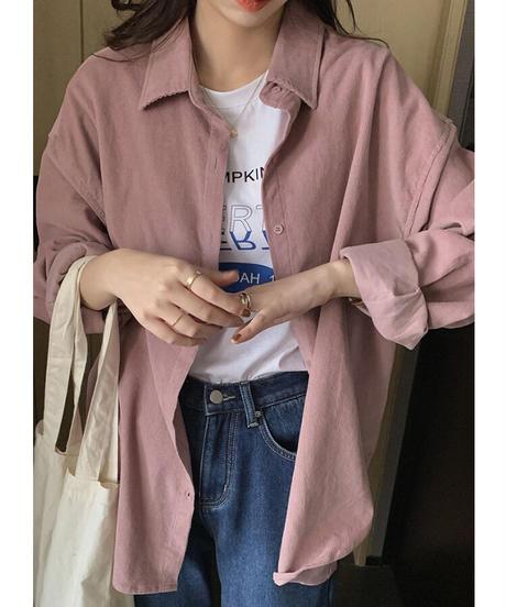 back tag corduroy shirt/2color